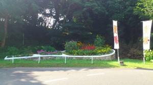 賢島スポーツガーデン敷地内の花壇の様子