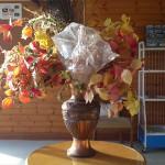 お客様から頂いた造花です。
