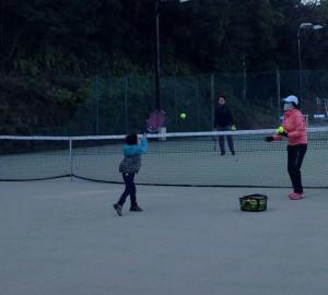 賢島・テニス冬休み練習会